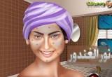 لعبة تنظيف بشرة نور الغندور