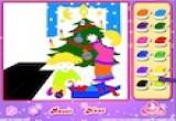لعبة تلوين شجرة الكريسماس