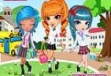 لعبة تلبيس بنات مدرسة