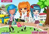 لعبة تلبيس ملابس المدرسة