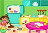 لعبة تنظيف بيت دورا