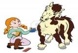 الفتاة راعية الحصان