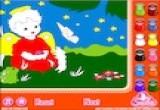 لعبة تلوين حديقة الاطفال