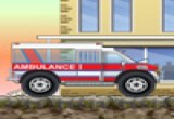 لعبة توصيل المرضى بسيارة الاسعاف