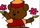 لعبة تلوين الدب