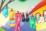 لعبة نشر الملابس المبللة