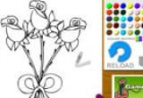 لعبة تلوين الورود