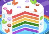 لعبة طبخ كيكة عيد ميلاد قوس قزح