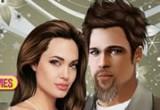 لعبة تلبيس انجلينا جولي وبراد بيت