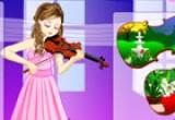 لعبة تلبيس عازفة الكمان