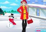 لعبة تلبيس البنات في الشتاء