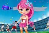 لعبة تلبيس مشجعات كرة القدم