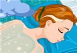 لعبة تنظيف جسم العروسة من الشعر