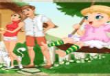 لعبة تلبيس البنت وامها وابوها