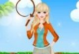 لعبة تلبيس فتاة سباق الخيل