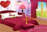 لعبة ترتيب ديكور غرفة نوم رومانسية