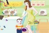 لعبة مكياج البنت وامها