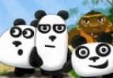 لعبة دببة الباندا الثلاثة