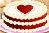لعبة طبخ الكيك الحمراء