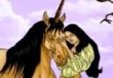 لعبة تلوين الاميرة والحصان